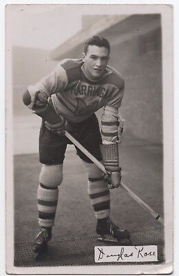 Harringay Racers Ice Hockey Doug Rose postcard, 1939-40