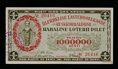 Estonia Organisation for the Protection of Children lottery 1928