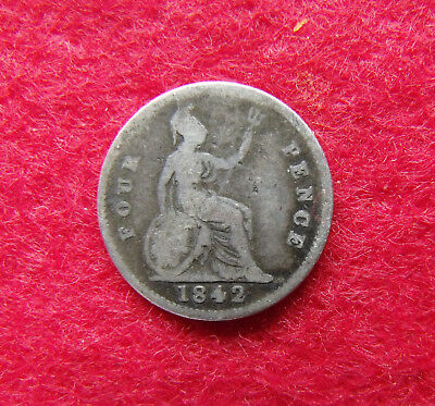 1842 Fourpence Groat Victoria