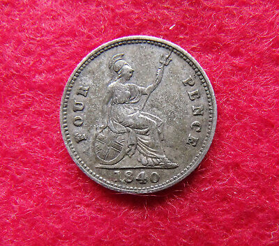 1840 Fourpence Groat Victoria