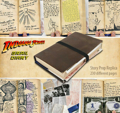 Indiana Jones GRAIL DIARY Story Prop Replica - 230 different pages, many inserts
