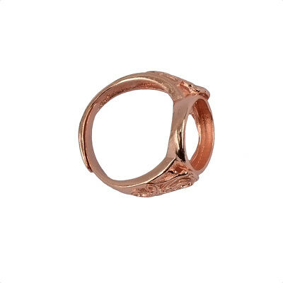 Rose Gold Ring Blanks Cabochon Settings DIY Ring Findings Jewelry Making 10/12mm