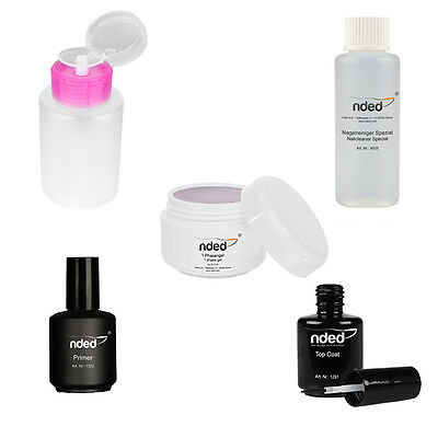 SET RICOSTRUZIONE UNGHIE GEL UV MADE IN GERMANY KIT PROFESSIONALE Nded