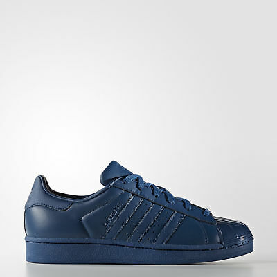 New adidas Originals Superstar Shoes S76723 Women's Blue Sneakers
