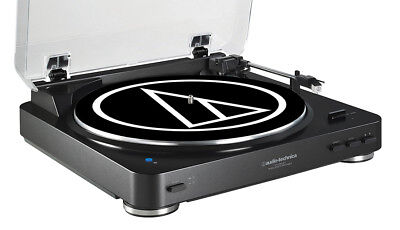 Audio Technica AT-LP60BK-BT Bluetooth Wireless Stereo Turntable in Black