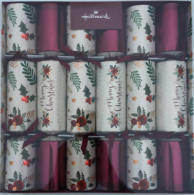 Deluxe Christmas Crackers 6 Pack - 2017 Limited Edition 33cm Large Luxury Cracke