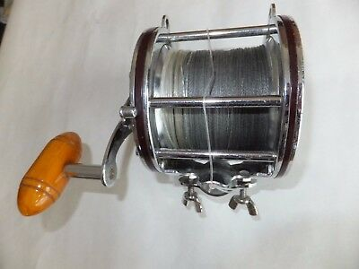 Penn 4/0 Senator Multiplier Boat Reel With Braid.