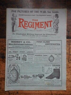 The Regiment , Military Journal 1899 Battle Of Dundee 20Th Middlesex The Artists