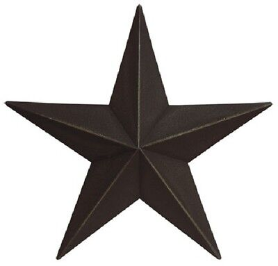 "8""  "" Antiqued Black "" Barn Star, Primitive, Country, Metal Stars"