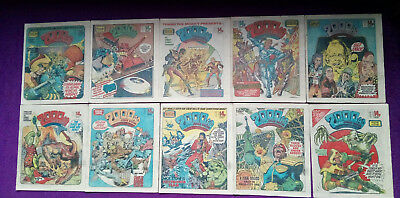 2000AD 1980 - job lot of 10 progs - 181 to 190 -VG+/close to mint