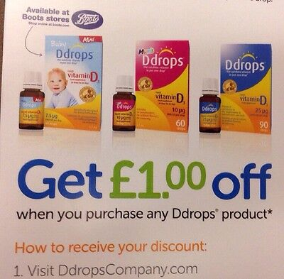 DDROPS Products £2 OFF DISCOUNT VOUCHER CODE COUPONS £1x2