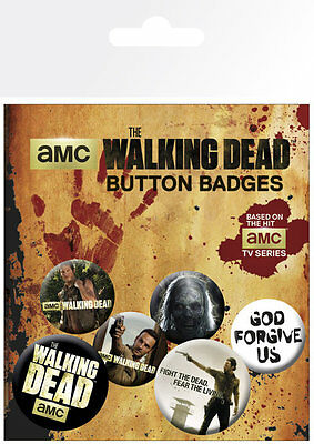 The Walking Dead  TV Zombies TWD Badge Pack Pin Badges