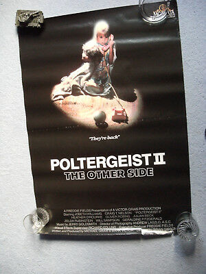 Poltergeist 2 1986 video poster 27 X 41 inches