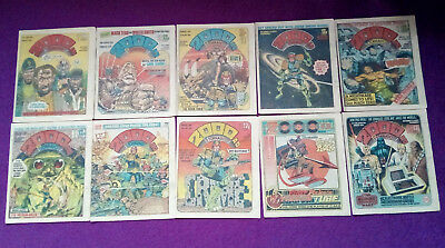 2000AD 1980 - job lot of 10 progs - 160, 162 to 170 -VG+/close to mint