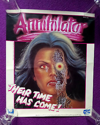 The Annilator video poster 1986 - 20 X 16 1/2 inches