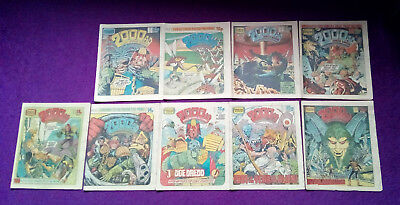 2000AD 1980 - job lot of 9 progs - 191 to 199 -VG+/close to mint