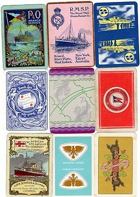 "15 Different VINTAGE ""Shipping Lines"" SINGLE Playing Cards"