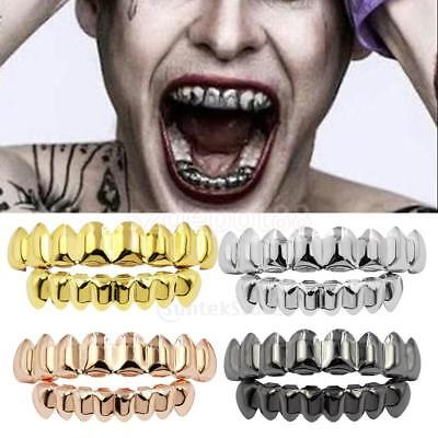 JOKER GRILL 8 Teeth Top Bottom Fake Mouth Grills for Halloween Costume