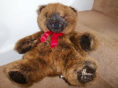 HARRODS FOOT DATED 1992 25th BIRTHDAY TEDDY GRIZZLY BEAR BIRTHDAY GIFT CHRISTMAS