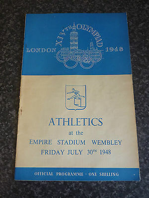 London 1948 Olympics Athletics Official Programme Empire Stadium Wembley