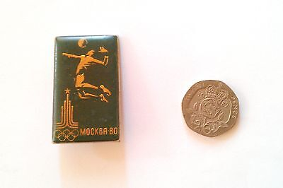 RARE MOSCOW OLYMPICS 1980 BADGE Volleyball Collectible Sports Russia Soviets UK