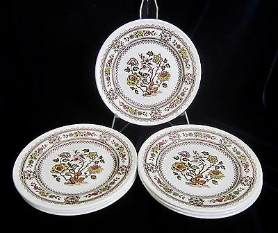 Wood & Sons Dorset Brown Multi-Colour Bread & Butter Plates - Set of 6 - England
