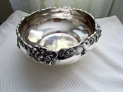 Antique Poole Quadruple Silverplate Footed Fruit Bowl