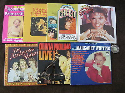 10 LP Margaret Whiting Andrews Sisters Olivia Molina Greco Piaf | M- to EX