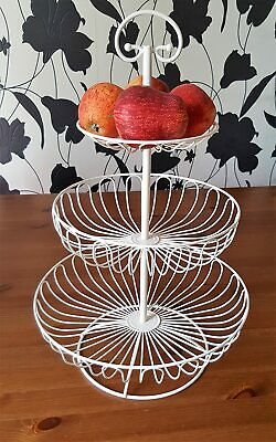 Fruit Basket With Cream Metal Elegant addition to your kitchen
