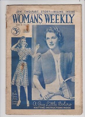 Woman's Weekly Magazine , Ww2 Issuse  , June 21St  1941