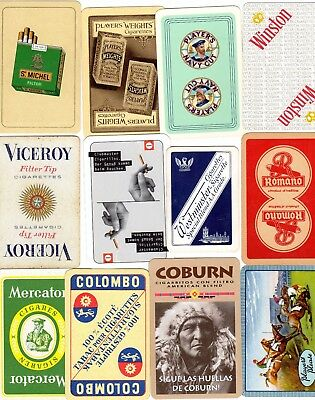 "12 More Different OLD & NEW ""Cigarettes/Tobacco"" SINGLE Playing Cards"