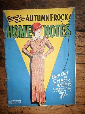 HOME NOTES 1933 Ladies Magazines Fashion Celebrities Health Home Adverts Deco