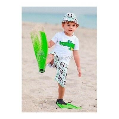 New Wholesale Boys 3 Piece Crocodile Tshirt Shorts & Hat 6-12 Mths & 4-5 Yrs