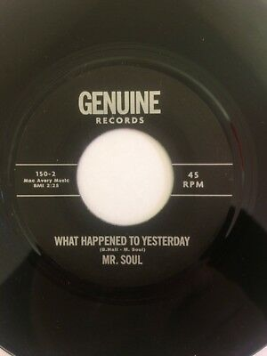 """Mr. Soul – What Happened To Yesterday  7"""" single"""