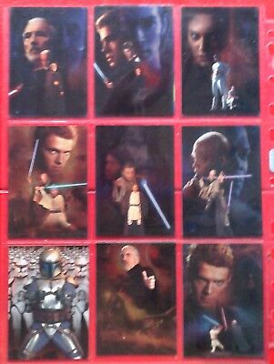 Star Wars Attack Of The Clones Silver Foil Card Set