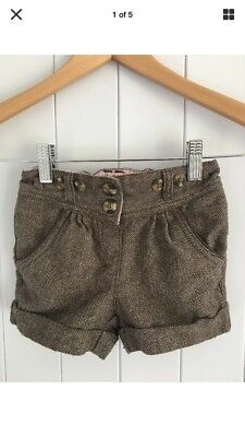 Next Brown Tweed Style Shorts With Sparkle Size 1 - 1 1/2 Years