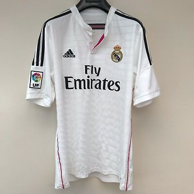 Adidas Real Madrid Fly Emirates Climacool White Football T Shirt ( L )