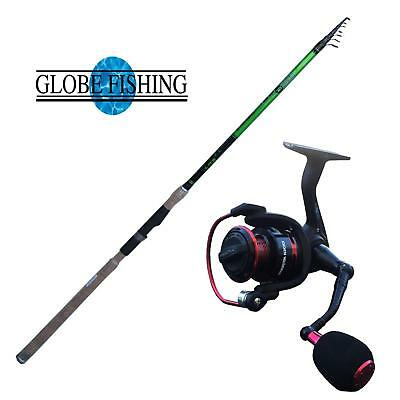 KP2855 Kit Globe Fishing Canna Tutto Fare 4 m 5-30 gr + Mulinello Predator  FEU