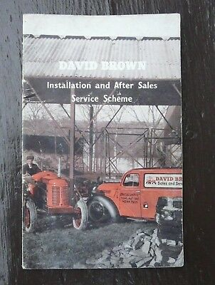 THE DAVID BROWN TRACTORS INSTALLATION & AFTER SALES SERVICE 24 PAGES C1950/60s