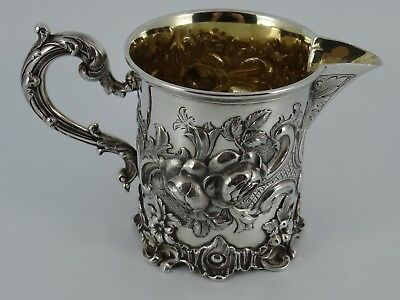 Lovely Victorian Solid Sterling Silver Embossed Cream Jug Cup London 1843 197G