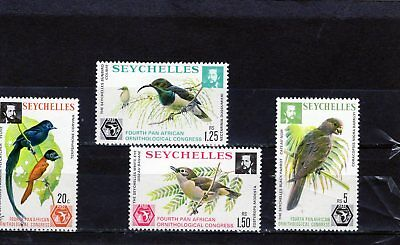 SEYCHELLES 1978 set of 4 Birds Mtd MINT