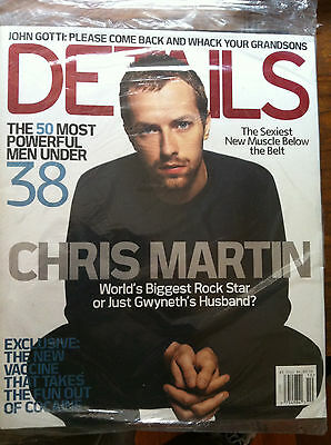 Chris Martin of Coldplay Details magazine cover Oct 2004 sealed. Beyonce Usher