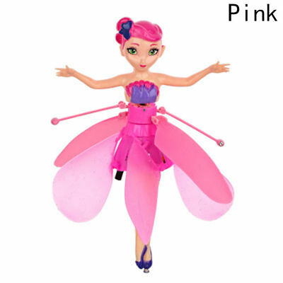 Pink Flying Fairy Magic Elsa Doll Infrared Induction Control Dolls Xmas Gift sol