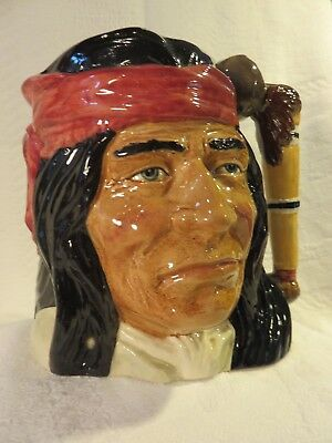 Geronimo--Royal Doulton Mid Size Character Jug (D6733) Retired -Mint