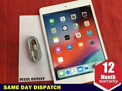 Apple iPad mini 2 16GB Wi-Fi 4G UNLOCKED Retina Display 7.9in  White Silver