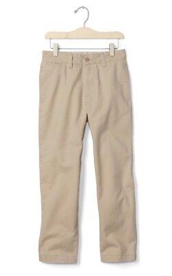 dc00b4131bc2f8 Gap Kids GapShield Boys Reinforced Relaxed Uniform Pants Khaki Beige - 14  Husky