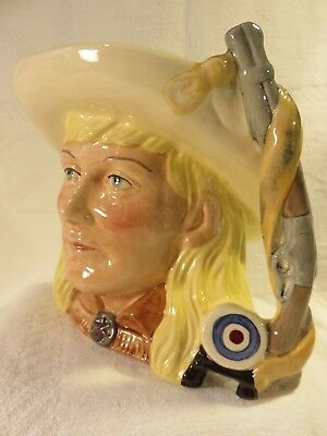 Annie Oakley--Royal Doulton Mid Size Character Jug (D6732) Retired -Mint