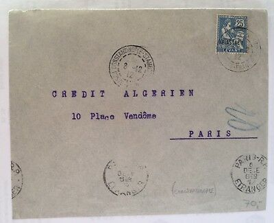 1912 Levant Lebanon  Cover To Paris , RARE !!!