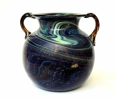 Marble Colors Vase, Hand-blown Glass, Ancient Roman Art Style