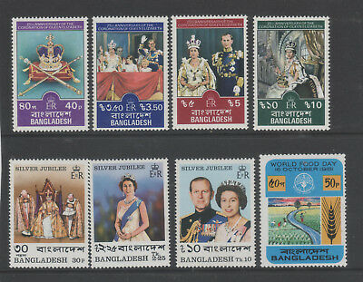 BANGLADESH Sel. 8 diff. unmounted mint stamps inc. 2 Royalty themed sets